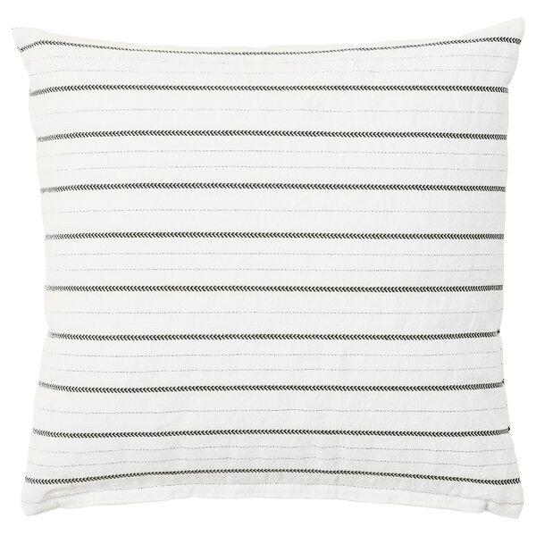 KONSTANSE                                Kissen, weiß, dunkelgrau, 40x40 cm