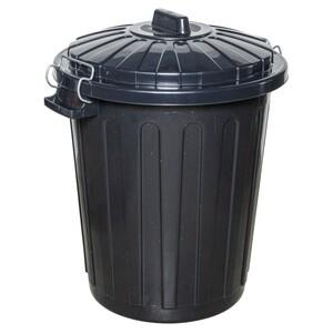 Mülleimer 70 Liter Curver Charly aus schwarzem Kunststoff