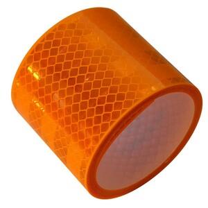 Reflektorband 2m gelb selbstklebend PVC Anhänger Reflexband KfZ Reflektor