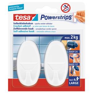 tesa Powerstrips® Haken Large Oval 2 Stück