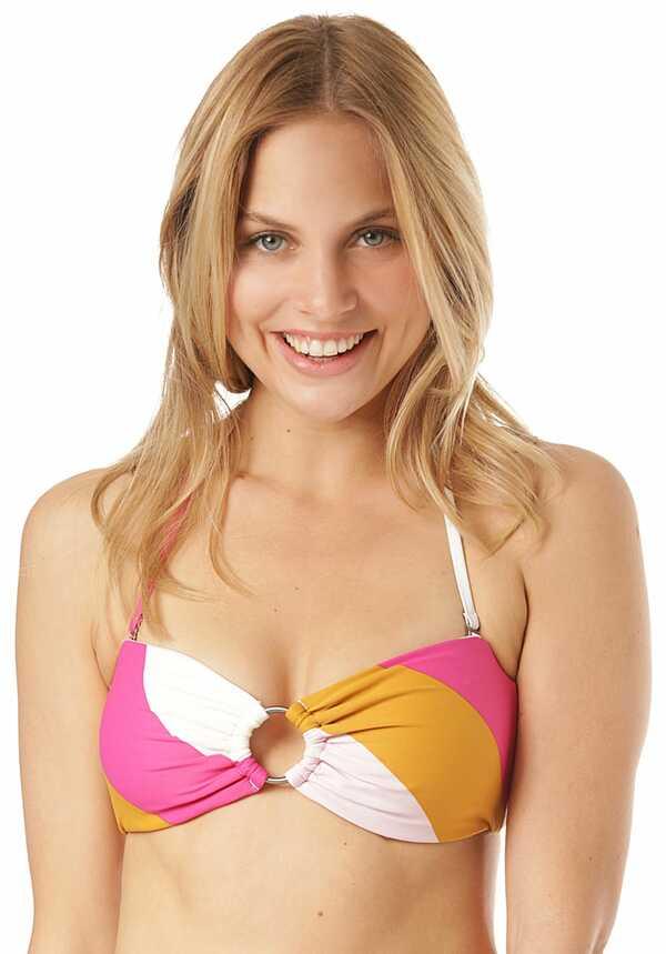 BILLABONG Soul Stripe Bandeau - Bikini Oberteil für Damen - Mehrfarbig