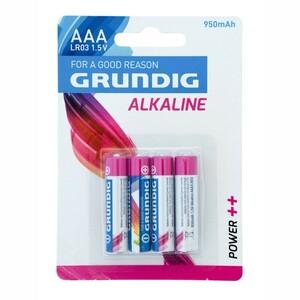 Grundig Alkaline Batterie Micro AAA 950mAh LR03 1,5V
