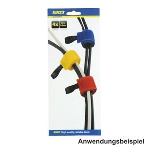 Kabelhalter 4 Stück 36 x 2,5 cm farbig