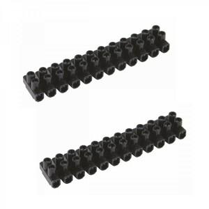 Lüsterklemme 6mm² 2x12pol. schwarz Verbindungsklemmen Steckklemmen Dosenklemmen