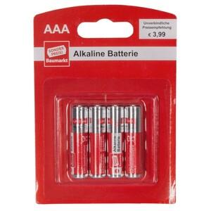Batterien Alkaline LR 03 AAA 4 Stück Blister Sonderpreis Baumarkt