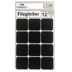 Filzgleiter 27x27 mm 12 Stück selbstklebend quadratisch