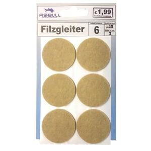 Filzgleiter Ø40 mm 6 Stück selbstklebend rund