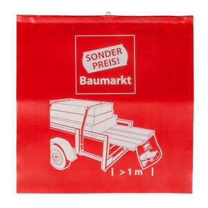 Sonderpreis Baumarkt Warnflagge Ladungssicherung 30x30 cm rot
