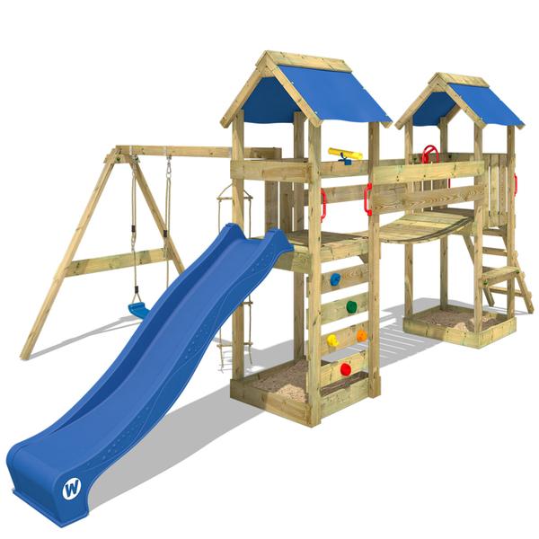 Super WICKEY SunFlyer Spielturm Kletterturm mit Schaukel, Rutsche und YH77
