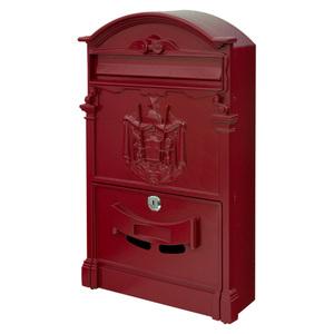 Retro Antik Nostalgie Vintage Briefkasten Postkasten Wandbriefkasten Rot V2Aox