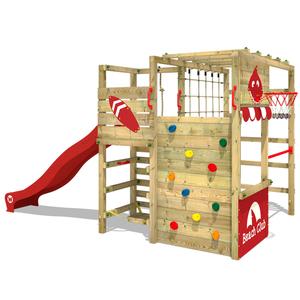 Spielturm WICKEY Smart Tactic Kinder Klettergerüst Garten Sandkasten Kletterturm Rutsche