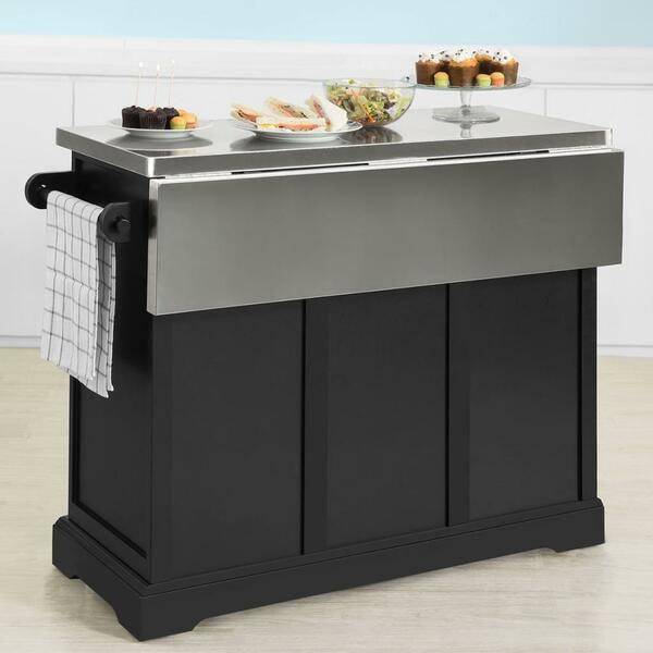 sobuy fkw71sch kücheninsel küchenwagen mit erweiterbarer