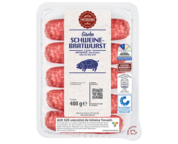 MEINE METZGEREI Grobe Schweine-Bratwurst*
