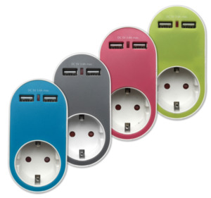 HOME IDEAS LIVING Design-USB-Steckdosen-Adapter