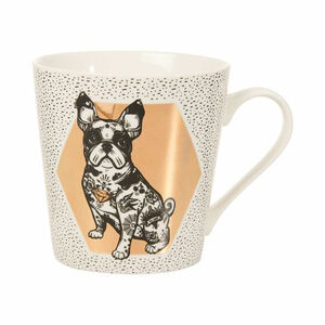Butlers Coffee Deluxe Tasse Bulldogge 350 ml weiss weiß