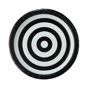 Butlers Black & White Pappteller Ø 23 cm schwarz-weiß