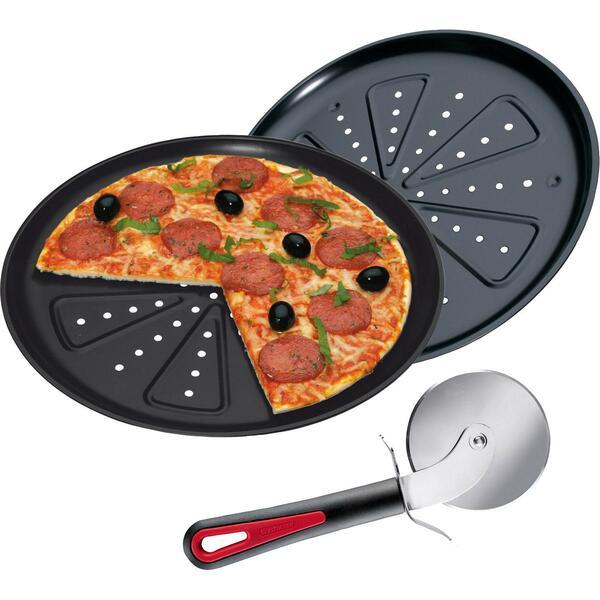 STONELINE  Pizza-Backset 2-tlg. Pizza-Backblech und Pizza-Schneider