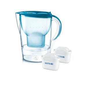 Brita Marella XL Petrol inkl. 2x Maxtra Plus Kanne & Wasserfilter blau, transparent
