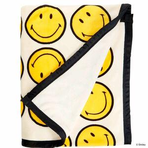 Butlers Smiley Flanelldecke Smiley allover 130x170cm creme