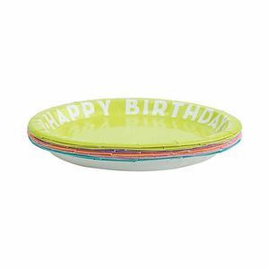 Butlers Happy Birthday Pappteller Ø 23 cm bunt