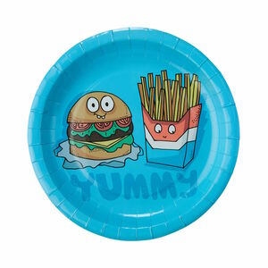"Butlers Fast Food Pappteller ""Yummy"" Ø 23 cm bunt"