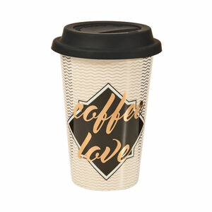 Butlers Coffee Deluxe Kaffeebecher To Go Coffee Love 400 ml weiß