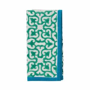 Butlers Blue Marocco Serviette gruen grün