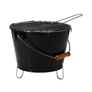 Butlers BBQ Grilleimer mit Tragegriff schwarz
