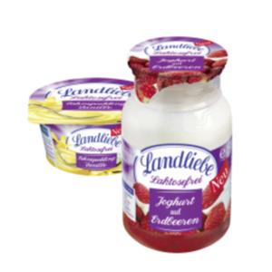 Landliebe Joghurt auf Frucht oder Sahnepudding laktosefrei
