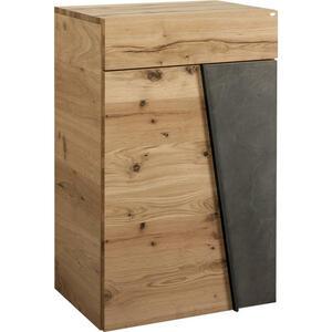 Voglauer SCHUHSCHRANK Eiche furniert, mehrschichtige Massivholzplatte (Tischlerplatte) Grau, Braun