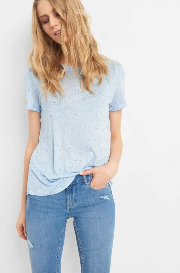 Shirt in Melange-Optik