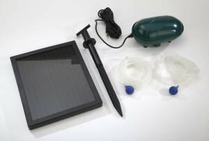 Solar Teichbelüfter mit zwei Luftsteinen Wetekom