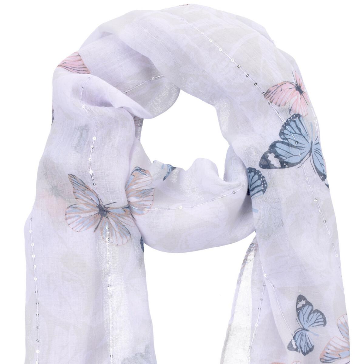 Bild 3 von Damen Tuch mit Schmetterlingen allover