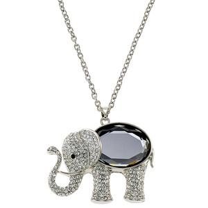 Lange Damen Kette mit Elefant-Anhänger