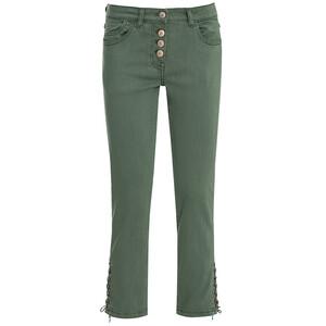 7/8 Damen Slim-Jeans mit Knopfleiste