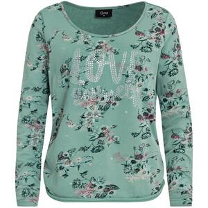 Damen Sweatshirt mit Glitzersteinchen