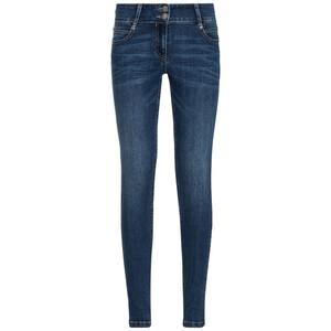 Damen Slim-Jeans mit breitem Bund