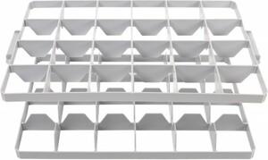 Surplus Gläsereinsatz für Eurobox 60 x 40 cm ,  24 Fächer, 2-teilig