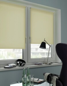 Gardinia Seitenzugrollo Mini, Uni ,  creme, 100 x 150 cm