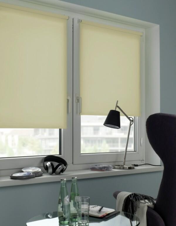 Gardinia Seitenzugrollo Mini, Uni ,  creme, 60 x 150 cm
