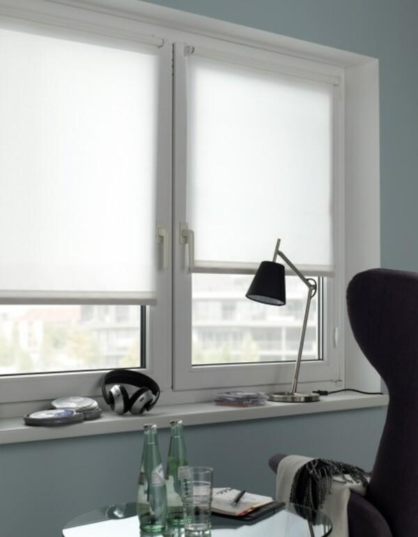 Gardinia Seitenzugrollo Mini, Uni ,  weiß, 60 x 150 cm