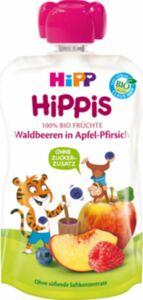 HiPP Bio Hippis Waldbeeren in Apfel-Pfirsich, 100 g