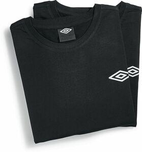 Umbro T-Shirt, 2er Pack - schwarz, Gr. XXL