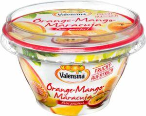 Valensina Fruchtaufstrich, fein passiert Orange-Mango-Maracuja 200g