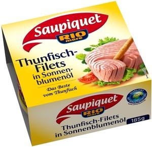 Saupiquet Thunfischfilets in Sonnenblumenöl groß 185 g