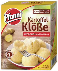 Pfanni Kartoffel Klöße mit rohen Kartoffeln für 6 Stück 200 g