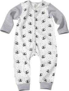 ALANA Baby-Schlafanzug, Gr. 74/80, in Bio-Baumwolle und Elasthan, weiß, blau, für Mädchen und Jungen