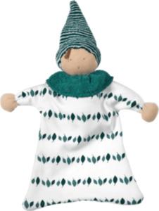 ALANA Baby-Puppe, in Bio-Baumwolle, weiß, grün, für Mädchen und Jungen