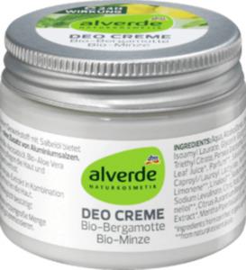 alverde NATURKOSMETIK Deo Creme Deodorant Bio-Bergamotte & Bio-Minze