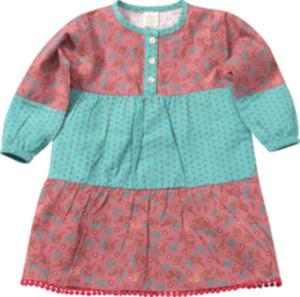 ALANA Kinder-Kleid, Gr. 92, in Bio-Baumwolle, rosa, türkis